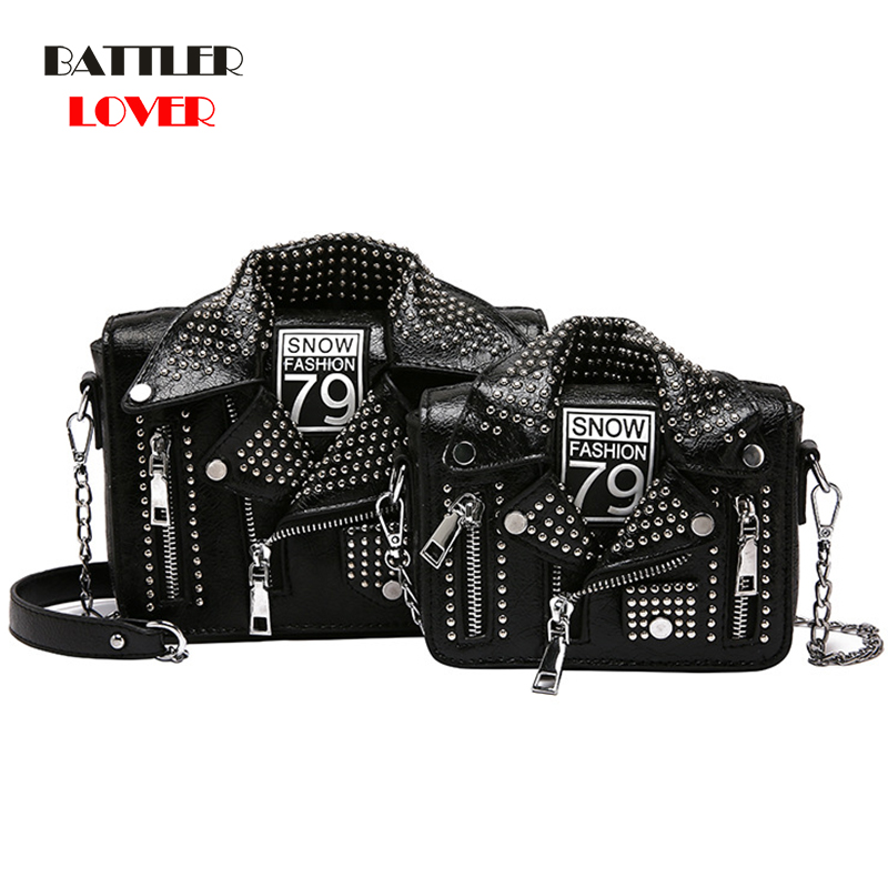 European Brand Designer Motorcycle Bags Women Clothing Shoulder Jacket Bags Messenger Bag Women