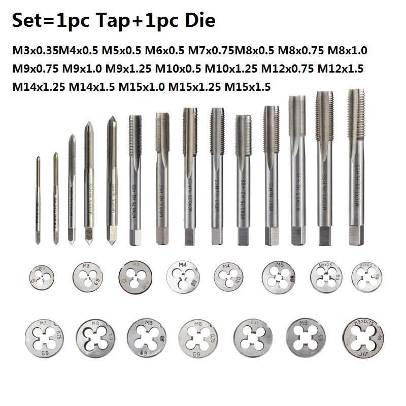 thegymyarraville.com.au SHENYUAN 1 Set Right Hand Tap and Die Set ...