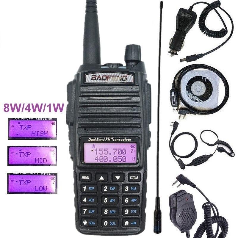 8W High Power Walkie Talkie Radio Baofeng UV-82 Portable CB Radio Transceiver Dual Band UHF/VHF 2800mAh Two Way Radio UV 82