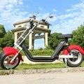 M2 длинный диапазон 100km CE ЕЭС Citycoco 60v 2 * 20ah с дополнительными аккумуляторами Электрический мотоцикл 12