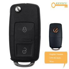 KEYECU XHORSE İngilizce sürüm XKB508EN Volkswagen B5 tarzı tel evrensel uzaktan anahtar 2 düğmeler için VVDI anahtar aracı, VVDI2