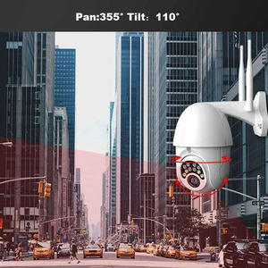 Image 4 - V380 PTZ Wifi IP Camera 1080P Speed Dome 4 white light with 8 IR light Two way Audio P2P Waterproof Network CCTV Security Camera