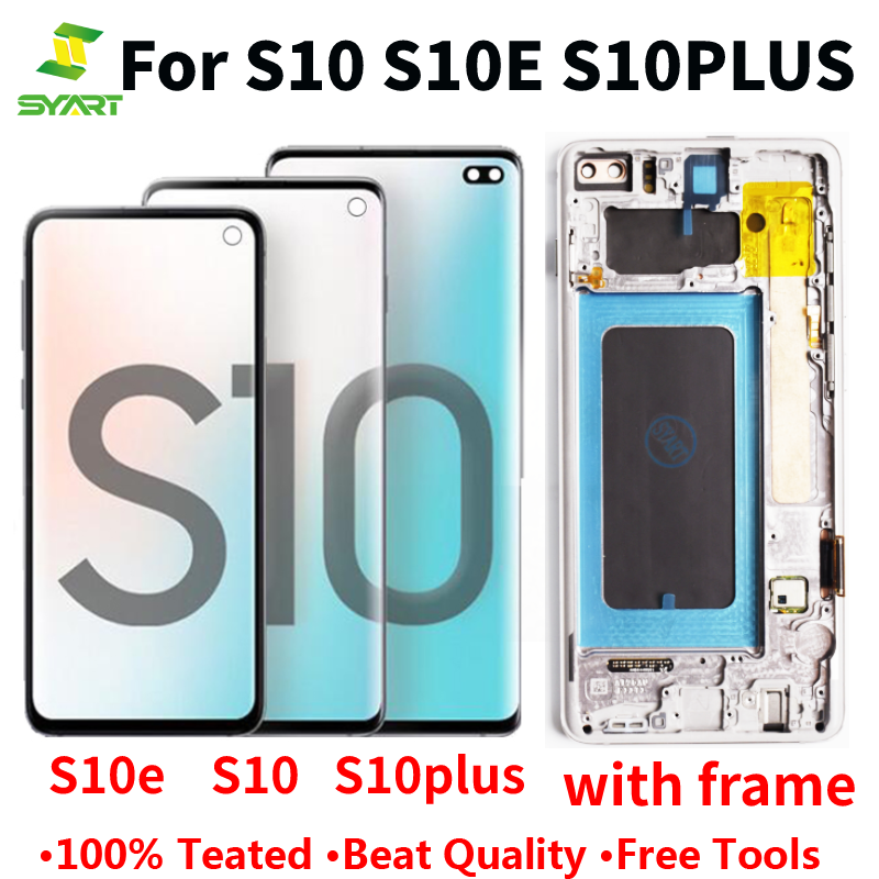 Super AMOLED For Samsung Galaxy s8 s8+ s9 s9+ s10 s10+ note 8 9 10 LCD Display Touch Screen With Frame image