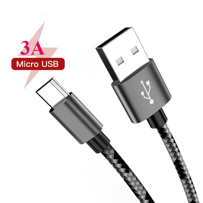Кабель Micro USB, 3 А, 1 м, 2 м, 3 м