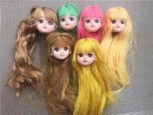 Raro edição limitada licca boneca cabeça de brinquedo original dos desenhos animados boneca cabeça meninas meninos diy vestir brinquedos de cabelo coleção boneca bonito cabeça