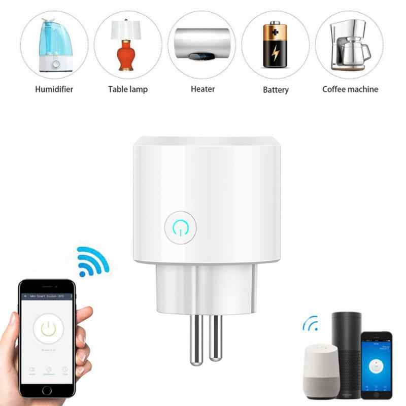 BSD23 Wifi Draadloze Afstandsbediening Socket Smart Timer Plug Voice Control Eu Home Brandvertragende Pc Smart Power Socket Eu Plug