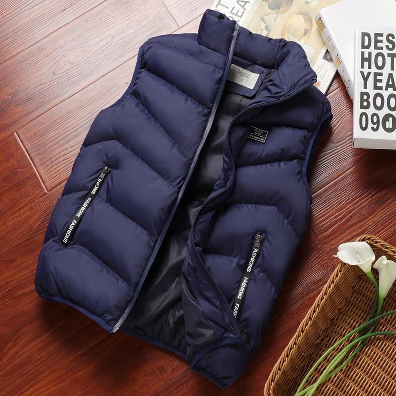Mens Jacket Vest Winter Fashion Casual Coats Male Cotton-Padded Men's  Sleeveless Vest Men 8XL Thicken Waistcoats Brand Clothing