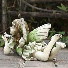 Jardim de fadas-miniaturas fadas estatuetas acessórios para decoração de jardim ao ar livre 667a