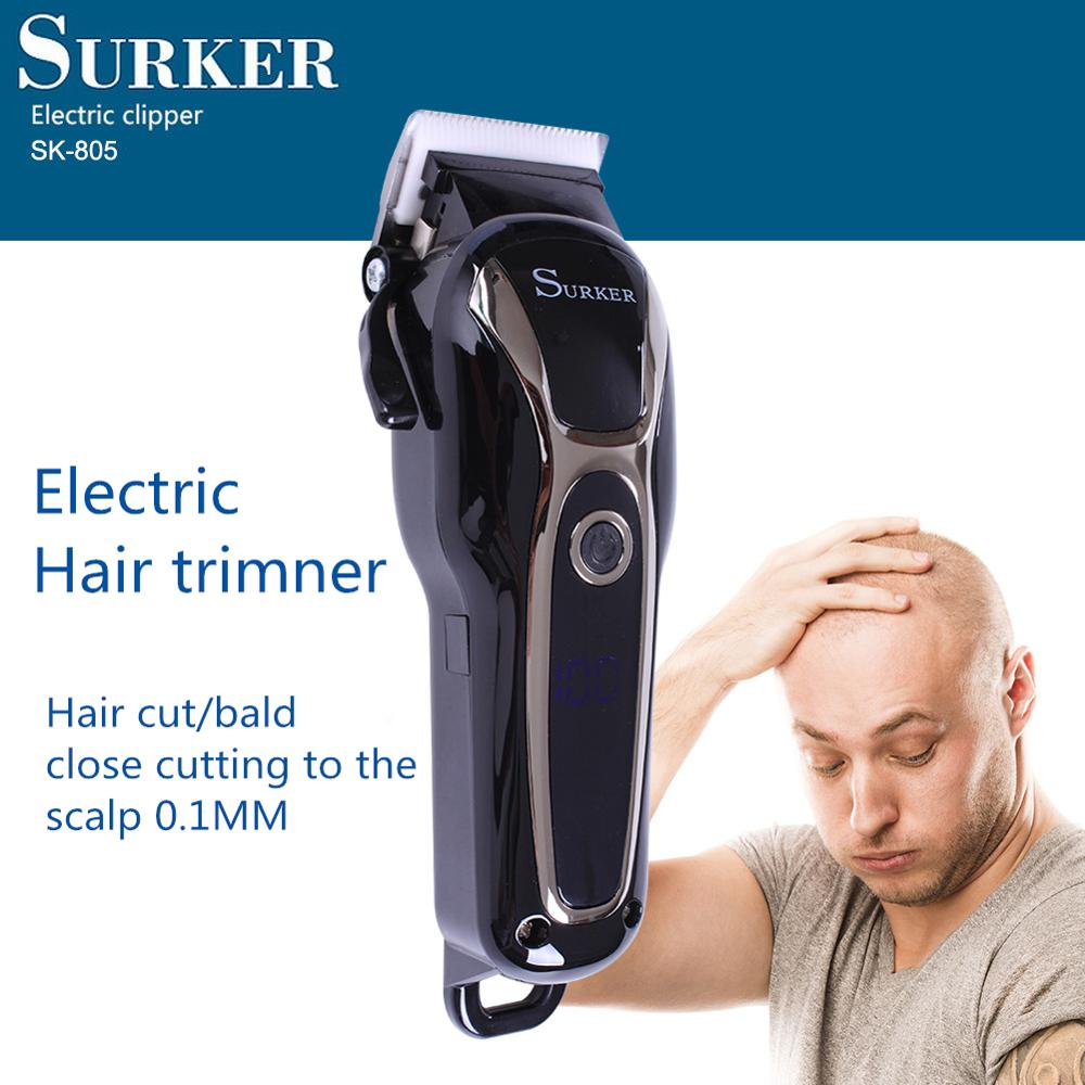 Surker  Hair-Trimmer Electric-Hair-Clipper Ceramic Blade Cordless Professional Adjustable Rechargeable Hair  Moser Barber Tools