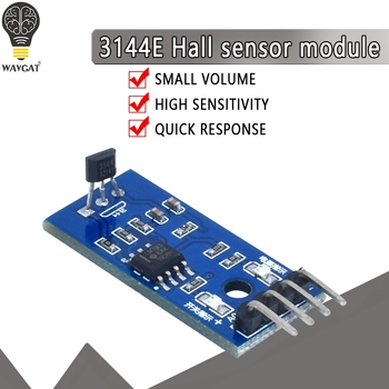 Hall Sensors Module 3144E Switch Speed Magnetic Swiches Counting Sensor For Arduino Smart Car - discount item  19% OFF Active Components
