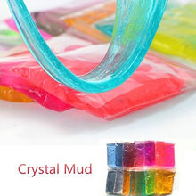 Creativity Imagination Education Clay Slime DIY Crystal Mud Play Transparent Magic Plasticine Kid Toys 12colors style For Baby(China)