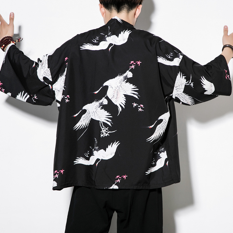 Summer Coat Chinese-style Men'S Wear Improved Chinese Clothing Retro Xian Qi Clothing Men Robes Chinese Costume Trend Ancient Co