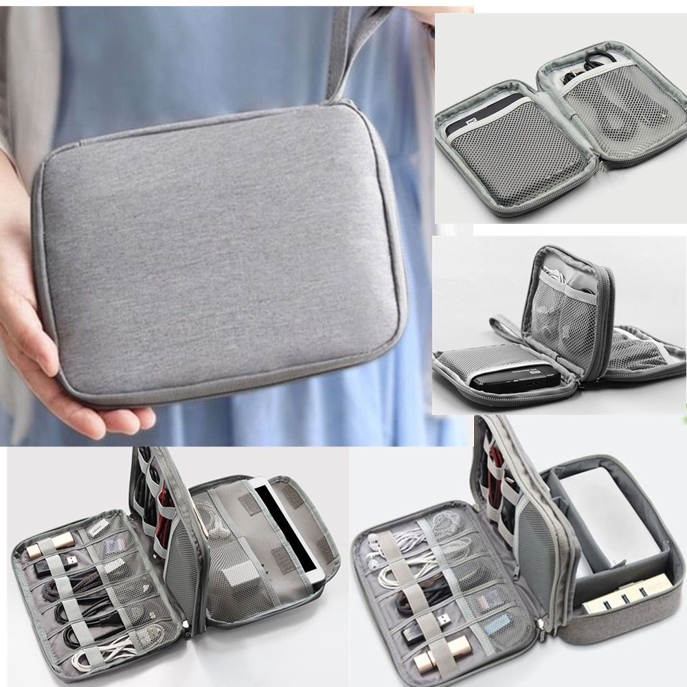 Electronic Accessories Organizer Bag Travel Cable USB Charger Storage 4 Styles