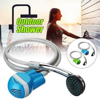Sans fil Portable extérieur USB Rechargeable pomme de douche pompe à eau buse Sport voyage caravane Van voiture laveuse Camping douche