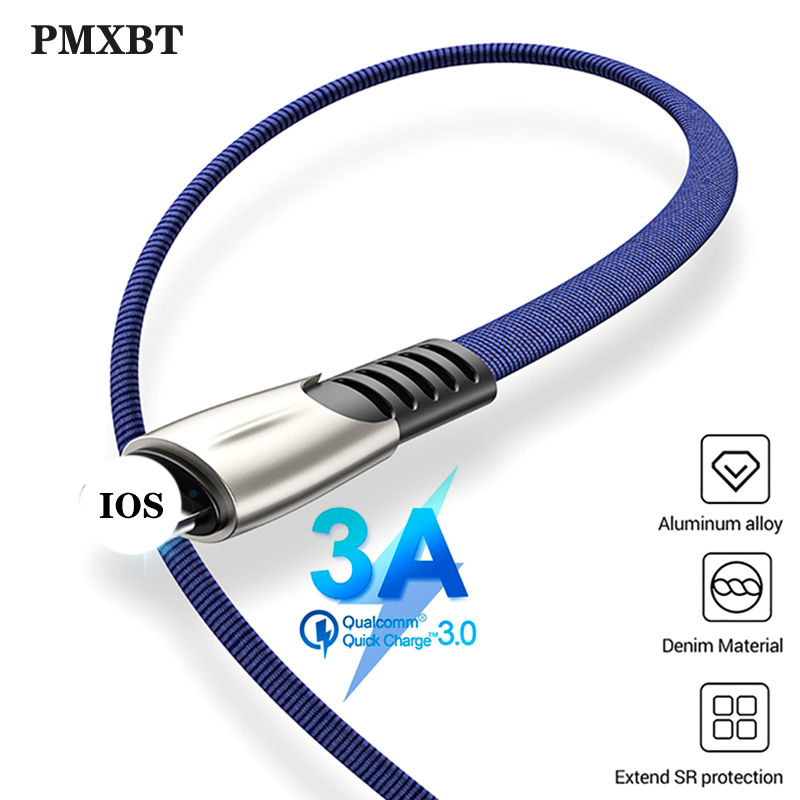 Fast Charger USB Cable For iPhone XS MAX XR X Cables Quick Charge Wire Cord For iPad