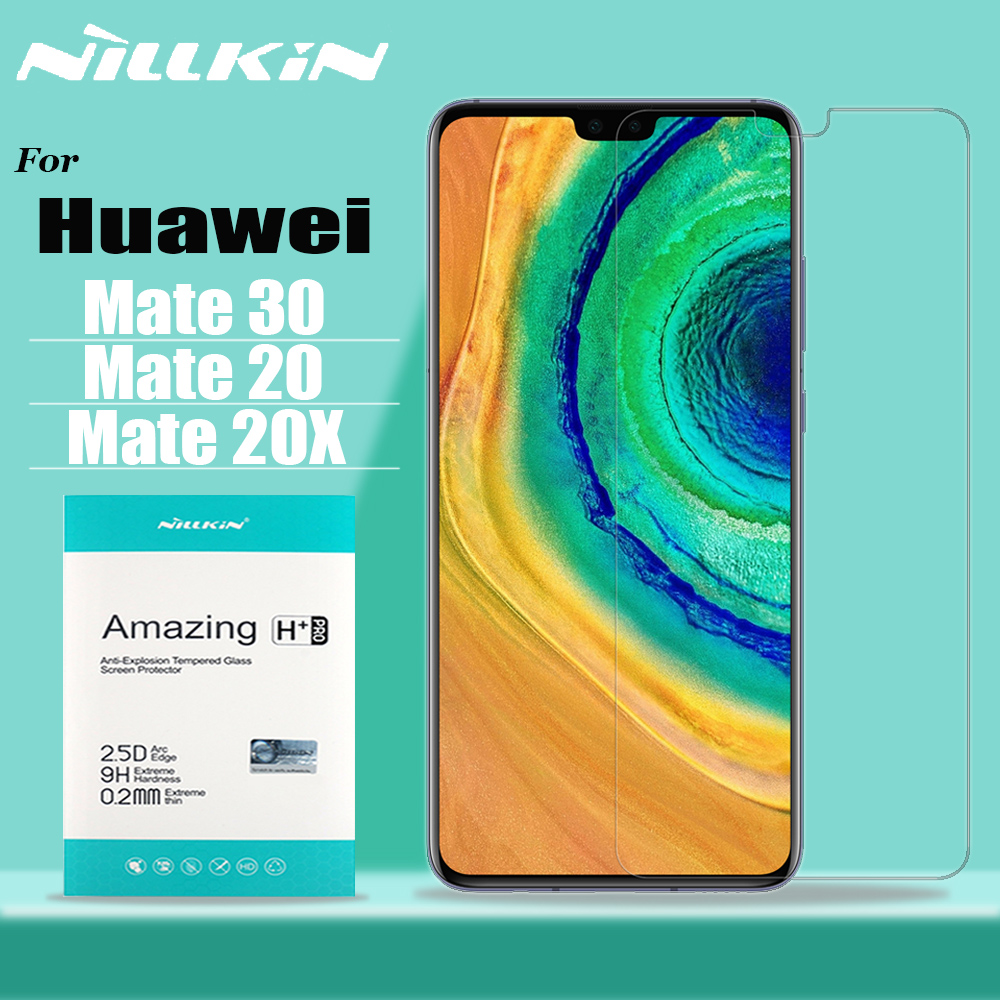 Nillkin For Huawei Mate 30 20 X Glass Screen Protector 9H Safety Protective Tempered Glass For Huawei P30 P20 Lite Honor 20 Pro