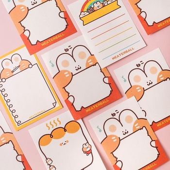 Cartoon post-it notes student notes n times affixed with cute notes sticky notebooks note pad  kawaii stickers Memo Pad 2pcs creative students stationery post it note with writing pad clip cartoon cute n times posted message notes