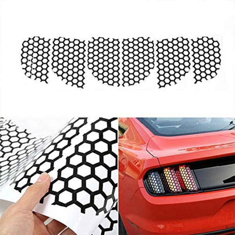 For Ford Mustang PVC Honeycomb  6 pcs  Rear Tail Light Stickers Style