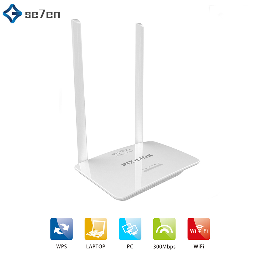 300Mbps Wireless WiFi Router Wi-Fi Repeater Booster 802.11b/g/n WPS 2.4G Network Router Extender Antenna Wifi Router Easy Setup