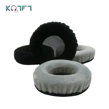 KQTFT 1 Pair of Velvet Replacement Ear Pads for Plantronic RIG 500E Surround Sound PC Headset EarPads Earmuff Cover Cushion Cups image