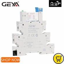 GEYA Dünne Relais Modul Schutz Schaltung 6A Relais 12VDC/AC oder 24VDC/AC Relais Buchse 6,2mm dicke 12V Relais