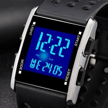 2019 Digital men's wristwatch, waterproof electronic sports watch, fashion digital sports watch, luminous watch for men