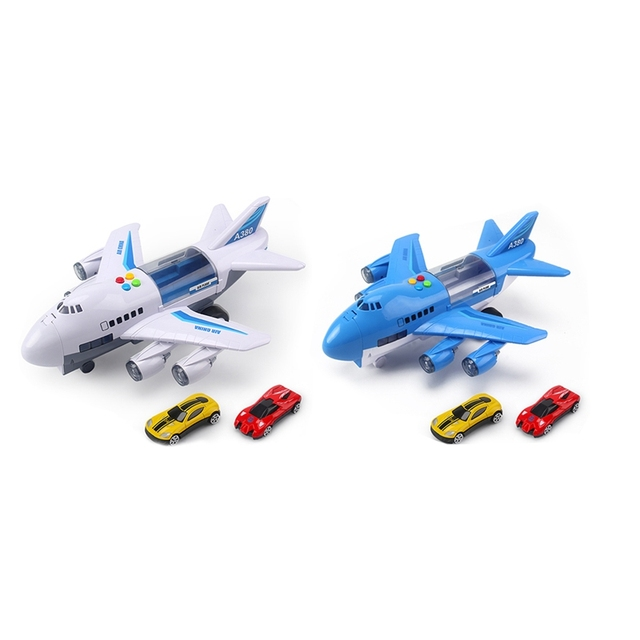 Music Story Simulation Track Inertia Children'S Toy Aircraft Large Size Passenger Plane Kids Airliner Toy Car 1