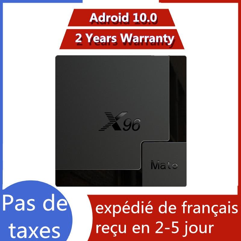 Melhor caixa de tv iptv x96 companheiro 4g 64g android 10.0 caixa de tv allwinner h616 x96mate 4g 32g ip smart tv conjunto caixa superior navio da frança