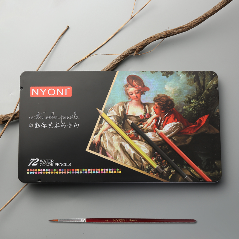 CHENYU 12/24/36/48/72 Watercolor Pencils Premium Soft Core Lapis De Cor Professional Soluble Color Pencil For Art School Supplie
