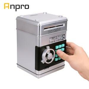 Atm-Money-Box Money-Saving-Machine Banknote Cash-Coin Deposit Piggy-Bank Password Electronic
