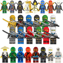 28pcs Ninja Model Action Figures Weapon Building Block Set Marvel Avengers Bricks Toys For Boys Children Christmas Birthday Gift
