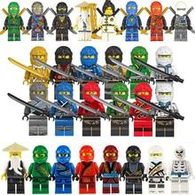 28pcs Ninja דגם פעולה דמויות נשק בניין בלוק סט מארוול נוקמי צעצועי לבנים עבור בני ילדי חג המולד מתנת יום הולדת