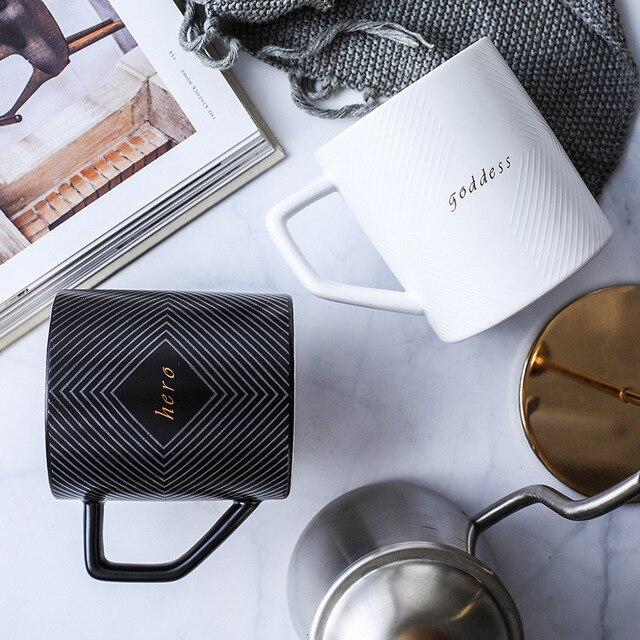 Купить черно белая кофейная кружка или чайная чашка для свадебного картинки цена