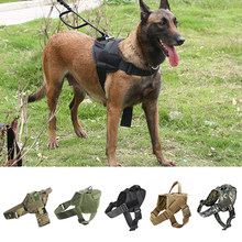 Dog Harness K9 Walking Adjustable Nylon Pet Dog Collar Vest Bungee Dog Leash Harness For Small Larges Dogs German Shepherd(China)