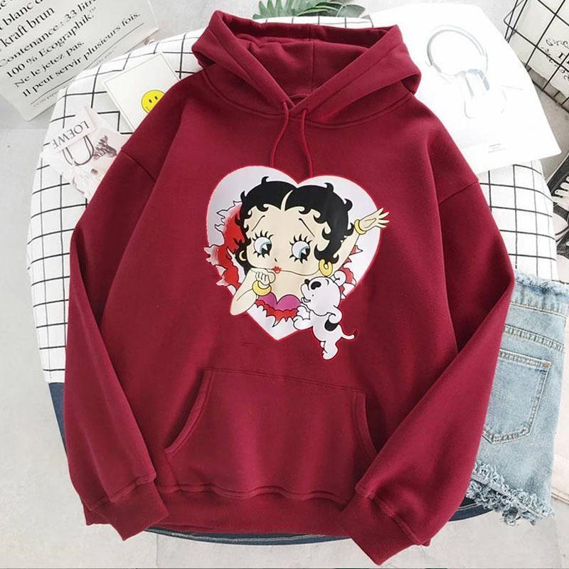 Plus Size sweatshirt Women Summer 2021 Spring Oversized Cute Print hoodie Cute Hip hop Kawaii Harajuku womens tops clothes 21