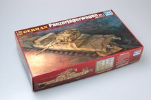 цена на Trumpeter 00368 1/35 Scale German Panzerjagerwagen Vol1 Military Train Gun Display Toy Plastic Assembly Building Model Kit