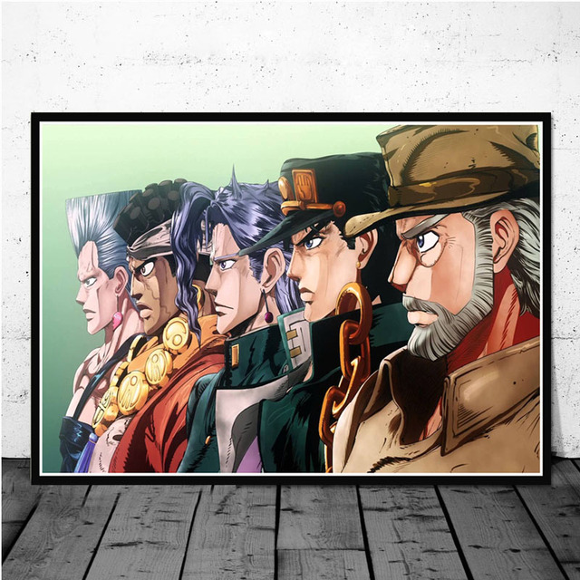 JoJo s Bizarre Adventure Action Japan Anime Kid Comic Paintings Poster And Prints Art Wall Pictures Home Decor quadro cuadros 5