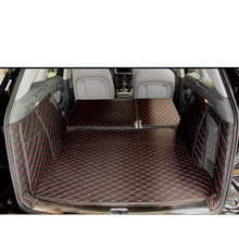 Lsrtw2017 Leather Car Trunk Mat Cargo Liner for Audi Q5 2008 2009 2010 2011 2012 2013 2014 2015 2016 2017 Rug Carpet Accessories