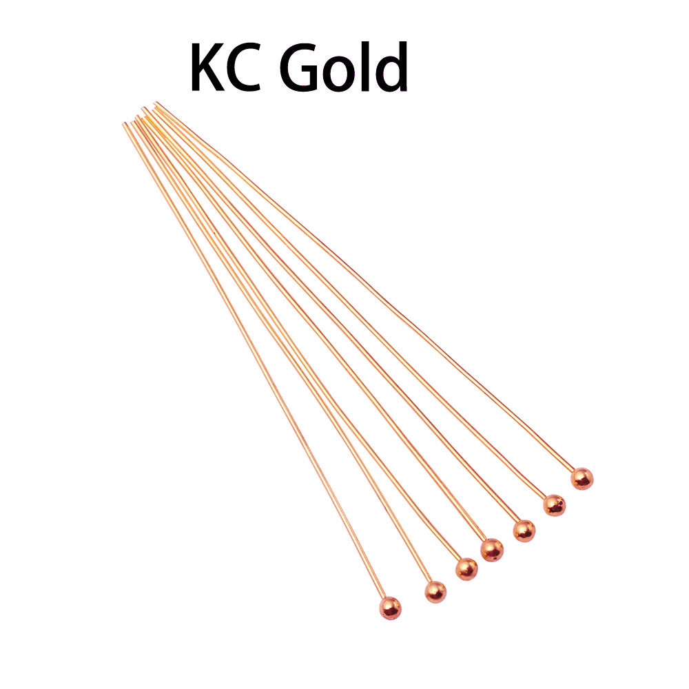 200pcs/lot Length 16 20 25 30 35 40 50 mm Gold Metal Ball Head Pins For Diy Jewelry Making Findings Head pins  Dia 0.5mm