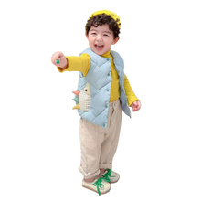 2019 Fashion Baby Kids Waistcoats Solid Color Coats Boy Girl Warm Vest O-Neck Winter Down Cotton Liner Toddle Outerwear