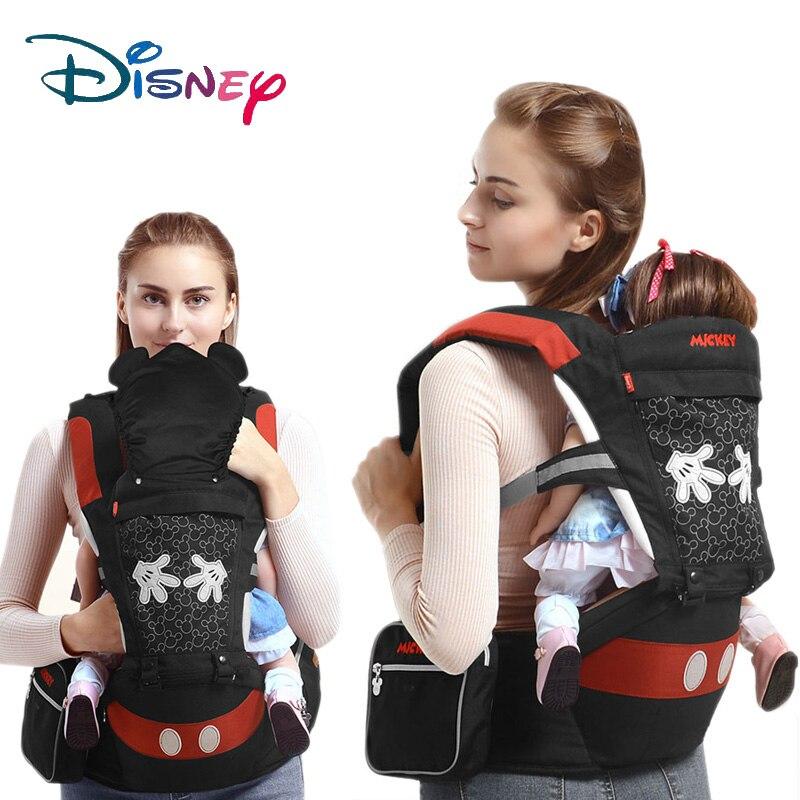 Disney Multifunktionale Vordere Hocker Baby Träger Strap Ergonomische Baby Träger Rucksack Mickey Atmungsaktiv Abnehmbare Känguru Baby