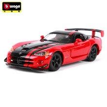 купить Bburago 1:24 Dodge Viper Simulation car model Racing Edition  alloy car model simulation car decoration collection gift toy дешево
