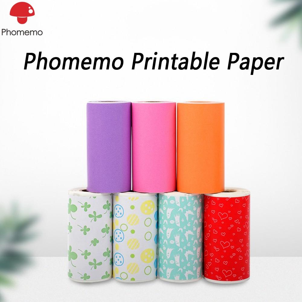 Фотобумага Phomemo, самоклеящаяся прозрачная термобумага для принтера Phomemo M02/M02S/M02Pro