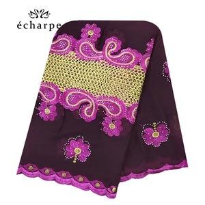 Image 1 - 新アフリカイスラム教徒刺繍女性綿スカーフ経済的な、綿ビッグサイズ女性スカーフショール EC200