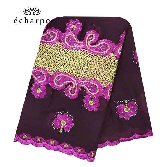 Neue Afrikanische Muslimischen bestickt frauen baumwolle schal wirtschaftlich, baumwolle große größe dame schal für schals EC200