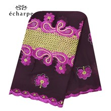 New African Muslim embroidered women cotton scarf economical,cotton big size lady scarf for shawls EC200