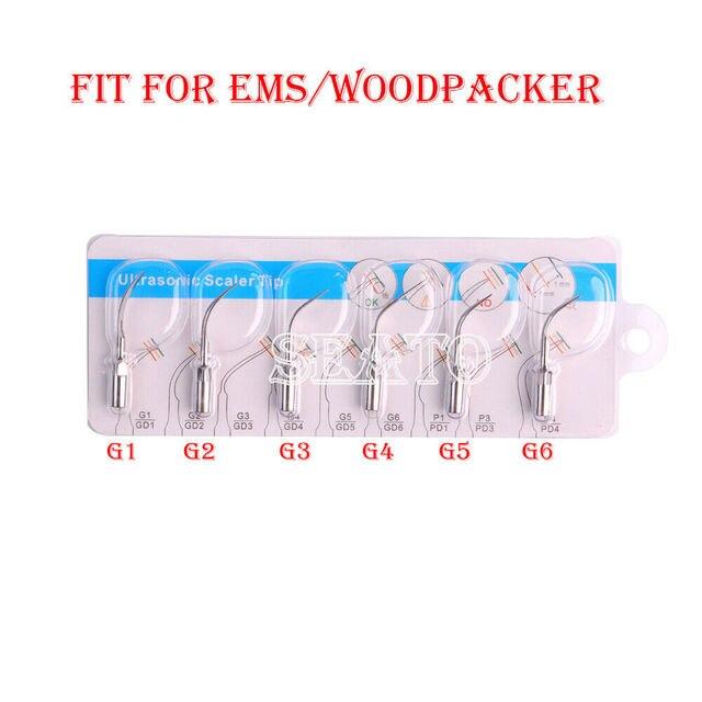 Dental Ultrasonic Scaler Tips G1 G6 Compatible EMS Woodpecker Handpiece  Teeth Whitening Dental Equipment