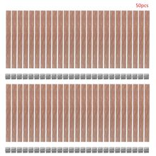 50pcs 8mm Wooden Wick Candle Core Sustainer Tab DIY for Candles Making Soy Wax