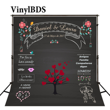 цена на Kate Custom Made Blackboard Wedding Photography Background Black Photography Props Photo Background Heart Photography Backdrops