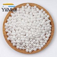 Grânulos redondos brancos da pérola vários tamanhos grânulos soltos do espaçador para a jóia que marca a colar encantos da joia que encontra
